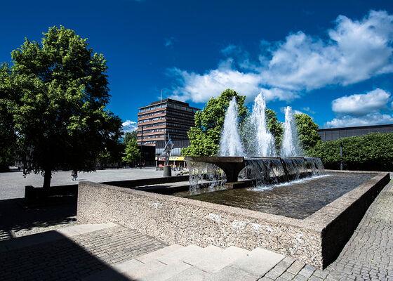 Frederikkeplassen med fontener.