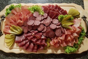 Image may contain: dish, food, cuisine, cold cut, salumi.