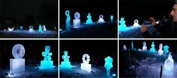 For the second time we invited the citizens of Oslo to a light event with glimpses of life sciences at several faculties at UiO and amazing ice sculptures of viruses. More than 3000 people attended the event. The ice sculptures are made by Elisabeth Kristensen and Dave Ruane. See more pictures. Watch interview with virus researcher Gunnveig Grødeland on Østlandssendingen.