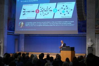 Opening speech by Bayer – the company that bought Algeta, the number one life science success story of the University of Oslo Kemal Malik, Board of Management of Bayer AG responsible for innovation Watch his presentation. Photo: UiO:Life Science/Terje Heiestad