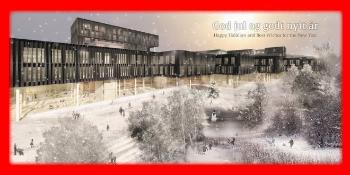 Now as December is here, we want to wish all of you who we have collaborated with during the year, a Merry Christmas with a winter scene from the planned life science building in Gaustadbekkdalen!