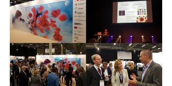 In September we attended the Nordic Life Science Days 2017 in Malmö–Copenhagen. UiO:Life Science and life science clusters and organisations promoted Norwegian life science at the Nordic Life Science Days (NLSDays) with support from Innovation Norway and the Research Council of Norway. Upper right: Irep Gözen from NCMM, the leader of one of the newly established convergence environments funded by UiO:Life Science, was the first speaker at the Academic Catwalk the first evening, and opened the conference. Bottom right: Norway's ambassador to Sweden, Christian Syse, and Tina Nordlander, Innovation Norway in Stockholm conversing with administrative leader in UiO:Life Science, Morten Egeberg. Read about Gözen's attempt to build an artificial cell from the bottom up, sciencenordic.com. Also read about how Gözen gave a online lecture for thousands of Turkish students in December.
