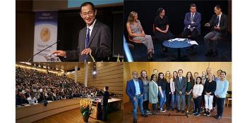 In September we had a full house when 2012 Nobel Laureate in Physiology or Medicine, Shinya Yamanaka, visited UiO. Yamanaka gave a lecture about a new era of medicine with induced pluripotent stem cells – iPS cells – and participated in a panel discussion about the implications of stem cell therapy for patients and society. He also had lunch and a roundtable discussion with students and visited the Norwegian Center for Stem Cell Research at the University of Oslo and Oslo University Hospital.  Watch videos and see pictures from the events.