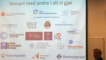 Vice-Rector for research and innovation at UiO, Per Morten Sandset, was one of the speakers who gave his support at the opening of Catapult Life Science. Read more about the opening on catapultlifescience.no (in Norwegian).