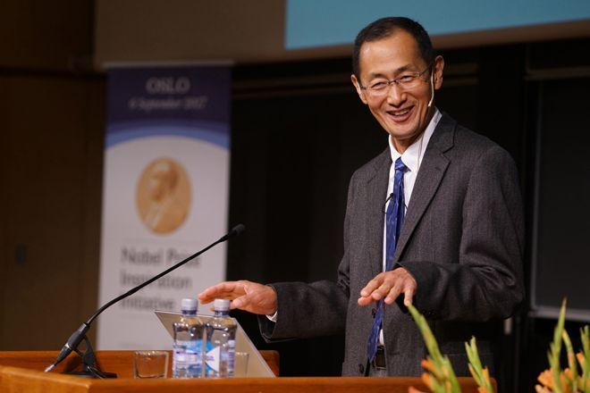 Professor Shinya Yamanaka, 2012 Nobel Laureate in Physiology or Medicine, was in good spirits when he visited Oslo on September 6. Photo: Terje Heiestad/UiO