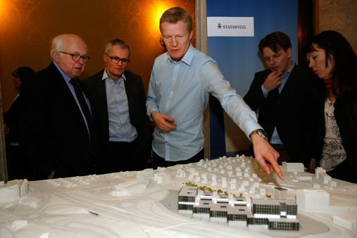 Statsbygg presented a model of the planned life sciences building situated in Gaustadbekkdalen.
