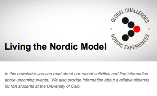 Living the Nordic Model i says. Logo.