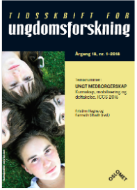 Cover Tidsskrift for Ungdomsforskning