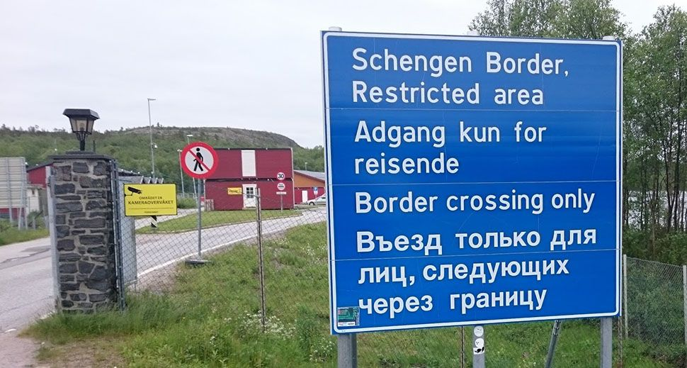 Border crossing only it says on a sign in many different languages.