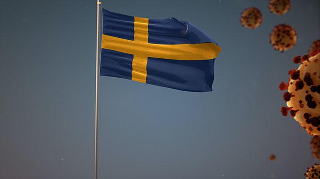 Bilde av det svenske flagge