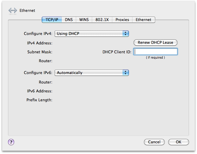 How to configure wired 802 1X for Mac OSX 10 6 3