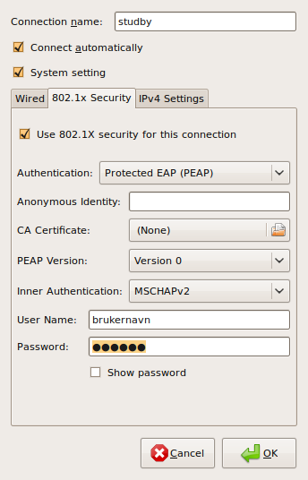 How to configure wired 802 1X for Linux with Network Manager