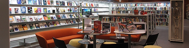 The Library for geosciences is located in the Science Library in Vilhelm Bjerknes' hus. Here you can find work places, group rooms, and library resources. You may also print, scan and take copies.