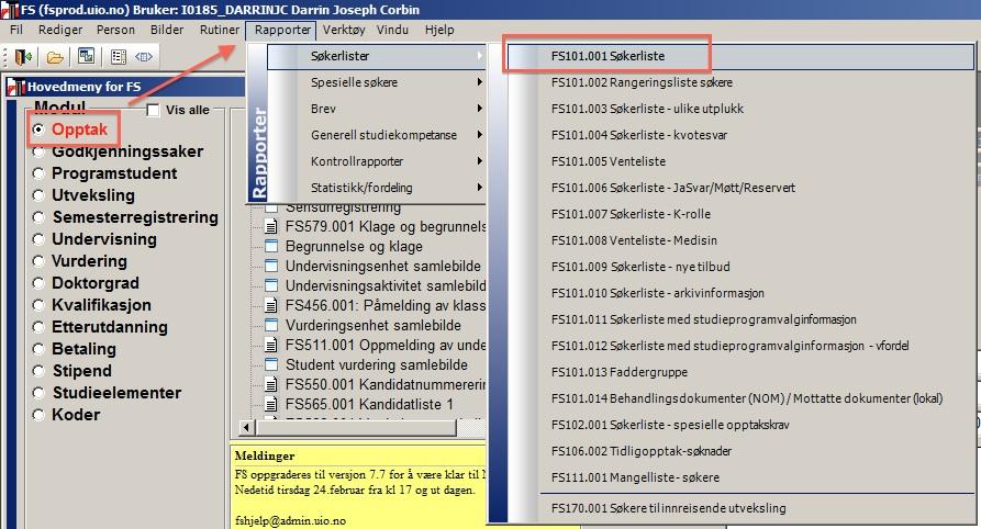 f26601ef Hvordan søke etter søkere i ett emne, sortering og filtrering av ...