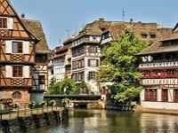 Bindingsverkhus ved kanalen i Strasbourg