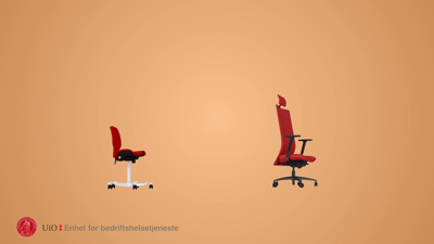 God ergonomi på kontoret For ansatte Universitetet i Oslo