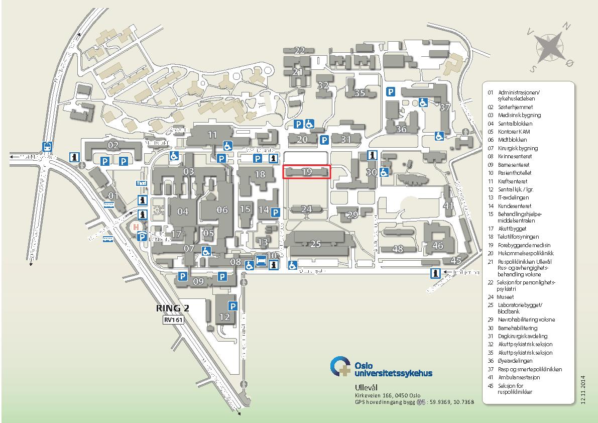 ullevål kart Helseordninger for internasjonale forskere   For ansatte  ullevål kart