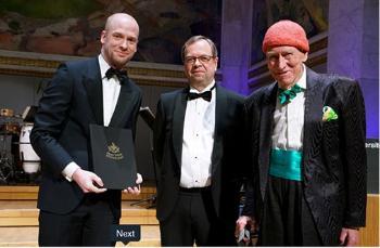 Jan Magnus Aronsen, Kenneth Ruud og Olav Thon. Foto: Terje Heiestad / UiO.