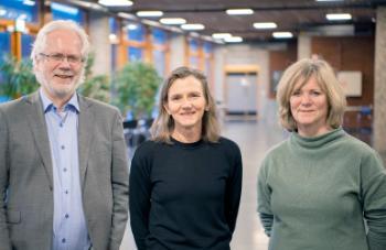 Det nye dekanatet på SV : Tore Nilssen ,Anne Julie Semb og Trine Waaktaar.