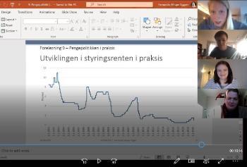 Digital undervisning på skjerm
