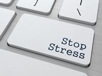 """Tastaturknapp som viser """"Stop Stress"""""""