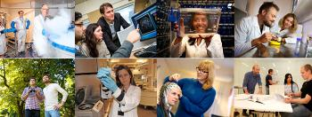 Collage of pictures from UiO:Life Science