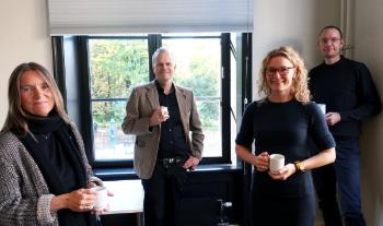 Ruth Hemstad, Tore Rem, Sunniva Engh og Klaus Nathaus under opningsseminaret for forskargruppa «Sivilsamfunn i Norden».