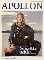 Nordisk dame i vikingklær på fremsiden av forskningsmagasinet Apollon