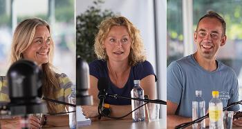 Bilde av Hilde Sandvik, Sunniva Engh og Malcolm Langford som snakker om hvordan Norden oppfattes i verden, i podkasten Universitetsplassen LIVE.