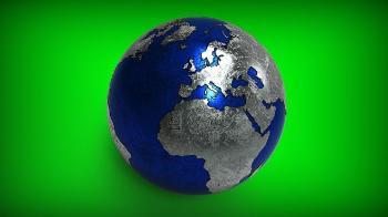Modell av jordklod. Illustrasjon.