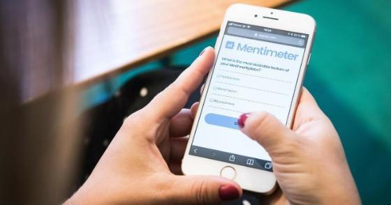Bildet av Mentimeter på mobil