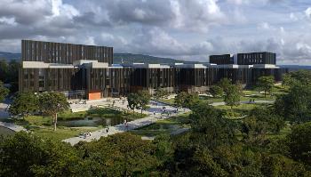 Bildet kan inneholde: arkitektur, bygning, himmel, botanikk, urbant område.