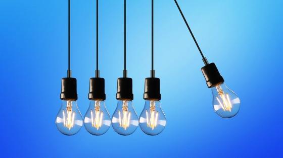Fem lyspærer