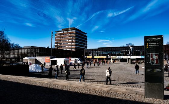 Fredrikkeplassen, tent, coronatesting, students