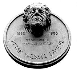 En byste av Peter Wessel Zapffe