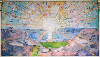 maleri av munch, solen
