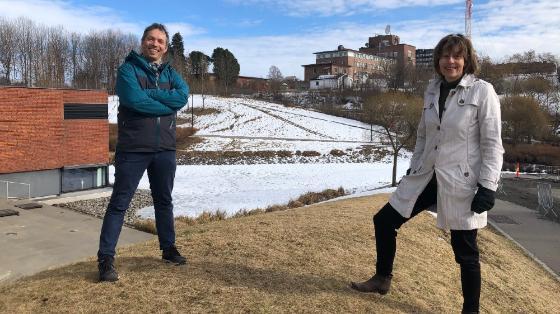 To forskere ved Forkningsparken