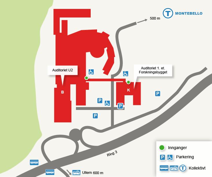 montebello oslo kart Kart over Radiumhospitalet   Universitetet i Oslo montebello oslo kart