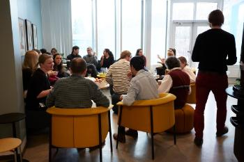 RITMO lunch: Every Wednesday RITMO's staff meet up for lunch in the kitchen area.