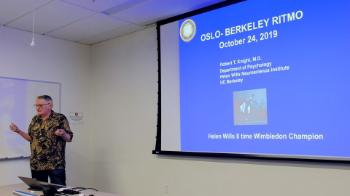 Professor Bob Knight kicks off the workshop by welcoming everyone to UC Berkeley.