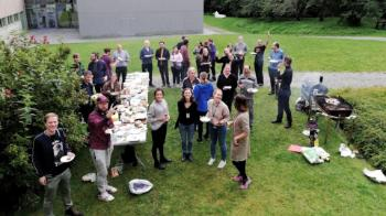 A barbecue in the garden to welcome all the new RITMO staff that started in the beginning of September.