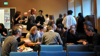 From the winter school reception dinner, during which the participants and teachers could get to know each other better.
