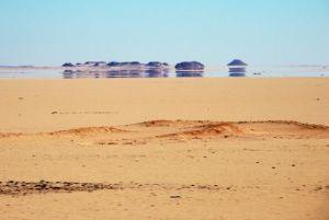 A mirage in a desert