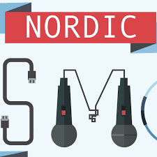 NORDIC with letters. And two microphones. NordicSMC logo.