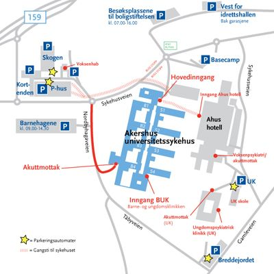 kart over rikshospitalet oslo Parkering på Akershus universitetssykehus (AHUS)   Medisin  kart over rikshospitalet oslo