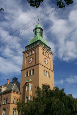 The bell tower at Ullevål hospital