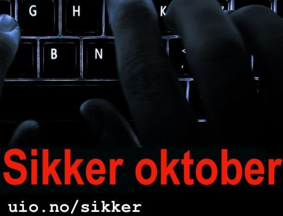 Tastatur med Sikker oktober-logo