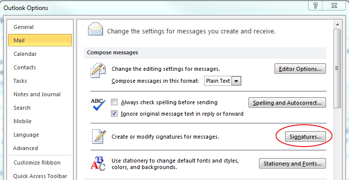 how to create html signature in outlook