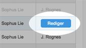 Rediger-knappen for å redigere en timeplanaktivitet